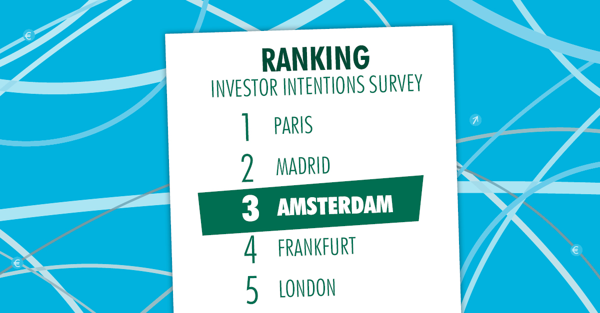 Amsterdam is in the European Top 3 for international real estate investors in 2018. Curious about further insights?