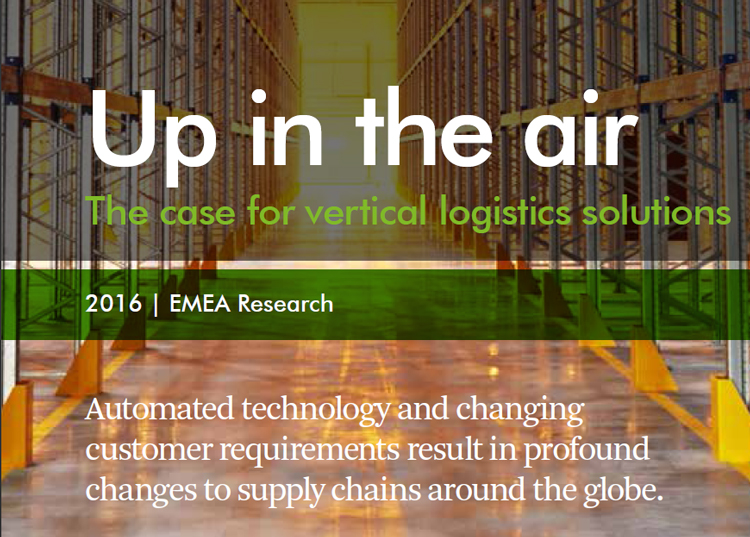 Printscreen CBRE EMEA Research 2016 - Up in the air - The case for vertical logistics solutions